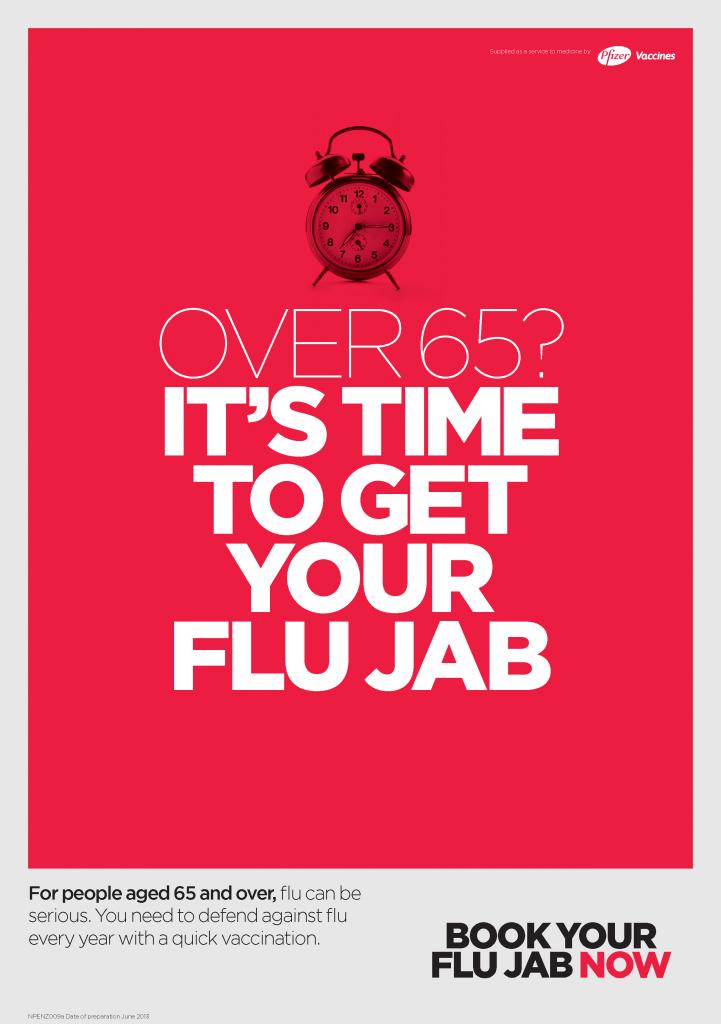 Flu Poster over 65 Pfizer